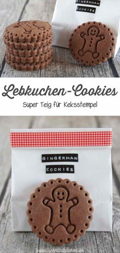 Gingerbread cookies from a super dough for biscuit stamp- Lebkuchen-Cookies aus einem super Teig für Keksstempel Sweet gingerbread cookies Mr. Gingerman – a great dough for biscuit stamps and generally a great recipe also for Cookie Cutters for Christmas Christmas Cookie Cutters, Christmas Baking, Christmas Cookies, Ginger Bread Cookies Recipe, Peanut Butter Cookies, Cookies Et Biscuits, Cake Cookies, Cupcakes, Cookie Desserts