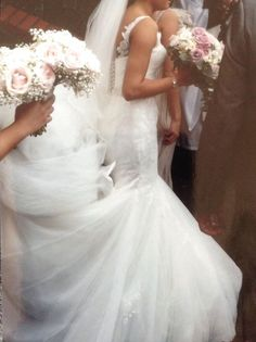 Fishtail wedding dress bespoke (Vera wang style) hoop included | eBay