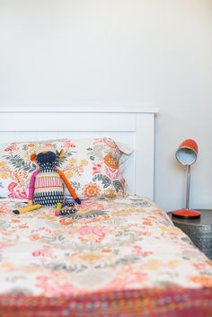 No child'd bedroom is complete without a teddy.  Tie it into other colours in the room, for harmonious living.