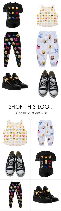 """""""Untitled #242"""" by kassidyrobinson on Polyvore featuring Converse, Changes and Giuseppe Zanotti"""
