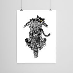 Playing Chicken Triumph Motorcycle Art Print