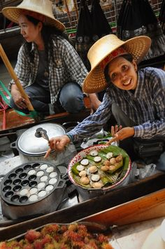 Would you like some 'Kanom Krok' – yes! I can't find these out here, ironically...