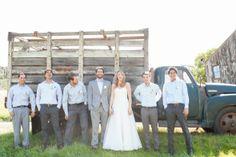 Rustic Bride & Groomsmen