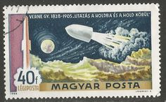 Hungary,1969.1st Man on the Moon (2nd issue). Flight to the Moon