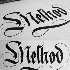 Method #calligraphymasters #calligraphy #lettering #handmade #fraktur #art #artist #handwriting #parallelpen
