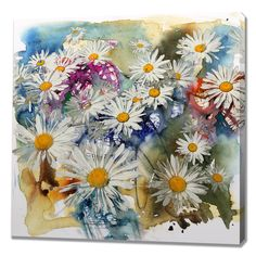 A Daisy Of A Day Painting Print on Wrapped Canvas