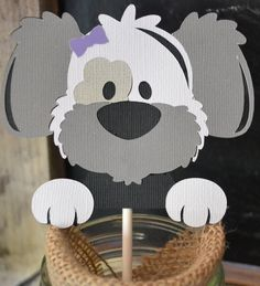 Perro cumpleaños fiesta Cupcake Toppers cachorro cumpleaños