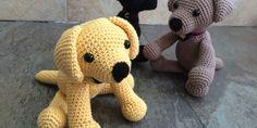 Dieses niedlichen Labrador häkeln.     Anleitung Kostenlos  Englisch  Online Verfügbar     zur Anleitung: Klick Hier  Übersetzt: Klick ...