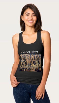 'Joie De Vivre' Tank Tops from Zazzle instantarts