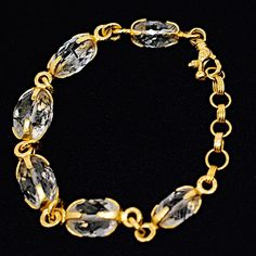GURHAN Gurhan 22/24kt Yellow Gold with Rutilated Quartz Bracelet-Gorgeous