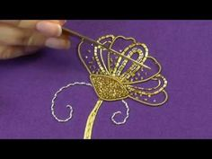 Video tutorial on gold embroidery. Gold embroidery for beginners Goldwork embroidery tutorial. Part 5 – Cutwork & finished piece. Tambour Beading, Tambour Embroidery, Hardanger Embroidery, Learn Embroidery, Silk Ribbon Embroidery, Hand Embroidery Videos, Hand Embroidery Tutorial, Hand Embroidery Stitches, Embroidery For Beginners
