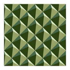 op art   op art green pyramids
