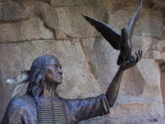 Chief Seattle Statue...Chief Seattle 1855 - There is no quiet place in the white man's cities. No place to listen to the leaves of spring or the rustle of insect wings. But perhaps because I am a savage and do not understand the clatter only seems to insult the ears.