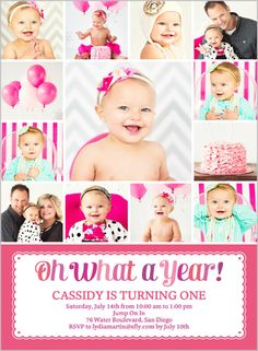 What A Year Girl 6x8 Stationery Card by Poppy Studio | Shutterfly