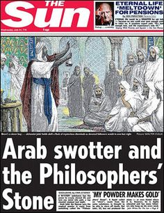 776 AD: Arab scholar Jabir ibn Hayyan 'invents' the Philosophers' Stone