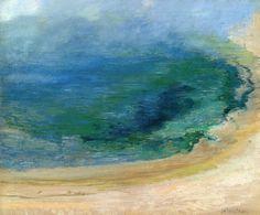 "John Henry Twachtman, ""Edge of the Emerald Pool, Yellowstone"" (1895)"