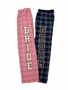 Custom Printed Groom Plaid Flannel Pajama Pants