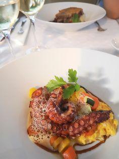 Oktopus mit Kürbiskraut von Senhor Vinho. Mehr dazu auf meinem Blog Kraut, Blog, Octopus, Blogging