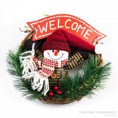 Bem vindo guirlanda guirlanda de natal Do Boneco de neve Papai Noel Forma Presente Papai Noel Navidad Natal Item de Natal Decoração de Natal em de no AliExpress.com | Alibaba Group