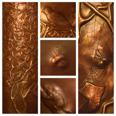Copper repoussé animals by Laurie C. at Archive Designs in Eugene, Oregon. Copper Art, Hammered Copper, Brass, Fire And Stone, Creative Artwork, Wrought Iron, Metal Art, Amazing Art, Metal Working