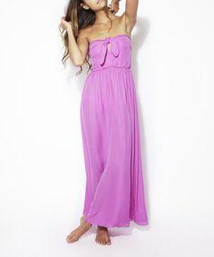 Radiant Orchid Zoe Silk Maxi Dress