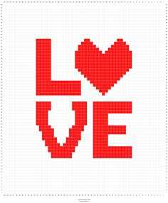 LOVE+pillow+cover+graph+-+Stitch+Fiddle.png (1200×1457)