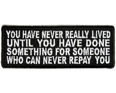 You Have Never Really Lived Embroidered Motorcycle MC Biker Funny Patch Motorcycle Patches, Biker Patches, Pin And Patches, Iron On Patches, Soulmate Love Quotes, Dad Quotes, Life Quotes, Funny Patches, Teaching Character