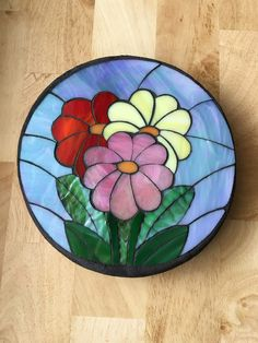 Spring Daisy Stained Glass Mosaic