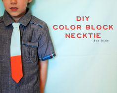 petit à petit and family: Bringing Home: DIY color block necktie