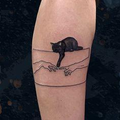 Mini Tattoos, Body Art Tattoos, Small Tattoos, Tatoos, Black Cat Tattoos, Modern Tattoos, Anime Tattoos, Leg Tattoos, Sleeve Tattoos