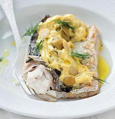 Grilled hake with green-olive mayonnaise - make homemade paleo mayo