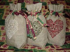 Veronica's Stitching Vault: heart cross stitch bags