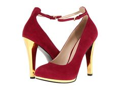 Nine West Don'tCha Red Suede - 6pm.com