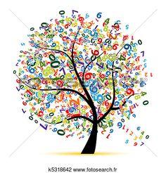 numérique, arbre, pour, ton, conception Voir Clipart Grand Format
