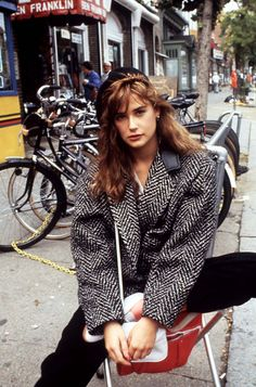 Demi Moore in St. Elmo's Fire, 1985