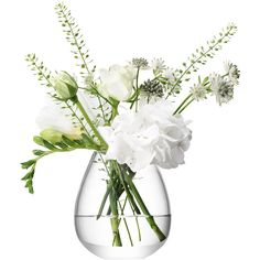 LSA Festive Flower Mini Table Vase found on Polyvore featuring home, home decor, clear, glass centerpieces, winter centerpieces, glass flower vase, lsa international and mini flower vases