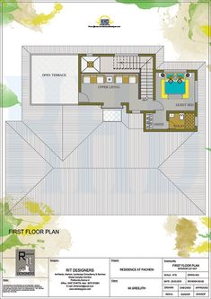 Floor plan and elevation of 3065 square feet kerala traditional home design by r it Free House Plans, House Layout Plans, Duplex House Plans, House Layouts, House Floor Plans, Kerala Traditional House, Traditional House Plans, Village House Design, Kerala House Design