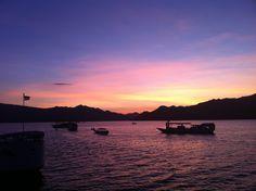 June sunset, off the coast of Komodo Island, Indonesia