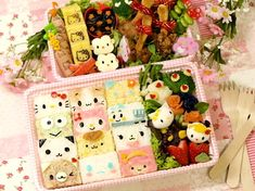 All cute Sanrio characters in my bento box! Who I should start with… Kawaii Bento, Cute Bento Boxes, Bento Box Lunch, Bento Food, Lunch Boxes, Japanese Bento Box, Japanese Sweets, Japanese Food, Frappuccino