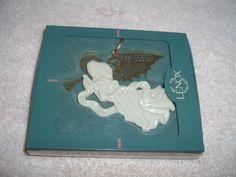 Lenox 1997 Herald Renaissance Angel with Trumpet, Christmas Gold/Porcelain Ornament.