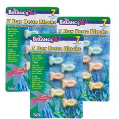 Pro Balance® Vacation Feeding Blocks help you enjoy your vacation without worrying about feeding your fish! Make sure your precious Betta are well fed while you are away or traveling on vacation with...