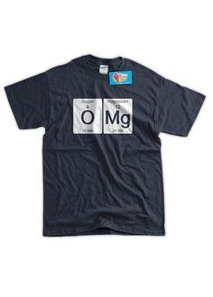 Funny Science T-Shirt OMG T-shirt Oxygen Magnesium от IceCreamTees