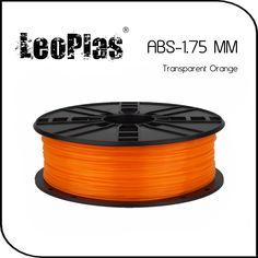 Worldwide Fast Delivery Direct Manufacturer 3D Printer Material 1kg 2.2lb 1.75mm Transparent Orange ABS Filament