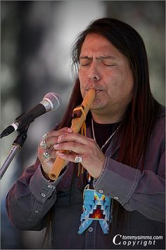 Native American Flute Player, via Flickr.