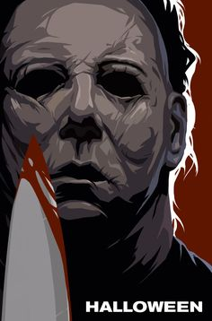 Create artwork inspired by the film Halloween Michael Myers, Horror Posters, Horror Icons, Scary Movies, Horror Movies, Halloween Universal, Halloween Film, Slasher Movies, Horror Artwork