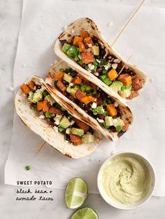 Sweet Potato Avocado Tacos / www.loveandlemons.com