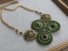 Anthropologie Necklace in Emerald Envy by TapestryBeadwork on Etsy, $150.00