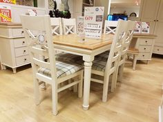 Oak furniture land extending dining table - Shay
