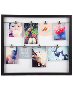 Display treasured photos, art and mementos with this photo display from Umbra…