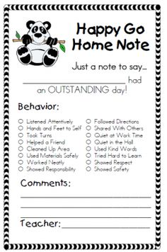 Cute! Behavior Management Supplemental Packet for Clip Chart |